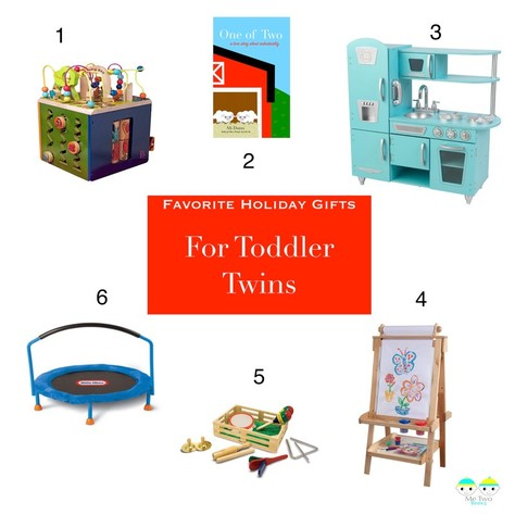 Toys must also be able to accommodate two or more kids playing together to help avoid tantrums that arise from taking turns. These 6 toys meet those criteria and are toys that actually get played with in my home.