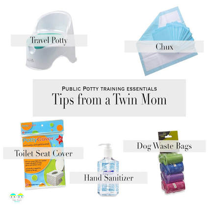 By the time your twins are toddlers, it's safe to estimate that they have decimated over 6,000 diapers. As a self-proclaimed germaphobe, who has spent years perfecting my hover as to not actually sit on a communal toilet seat, I have considered every possible disgusting scenario and compiled my survival tips.  Here is what you need to know to take your double potty show on the road.